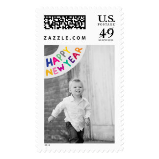 Photo Holiday Large Postage: Happy New Year Postage Stamp