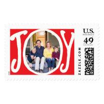 Photo Holiday Large Postage: Joy Frame Photo Postage