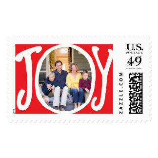 Photo Holiday Large Postage: Joy Frame Photo Postage