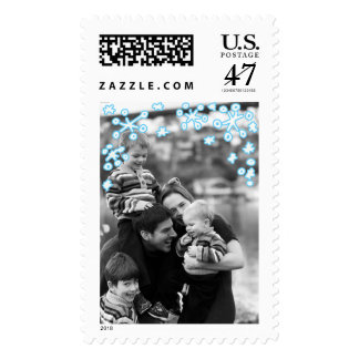 Photo Holiday Large Stamp: Falling Snowflakes Postage