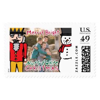 Photo Holiday Large Stamp: Nutcracker & Snowman Postage