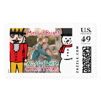 Photo Holiday Large Stamp: Nutcracker & Snowman Stamp