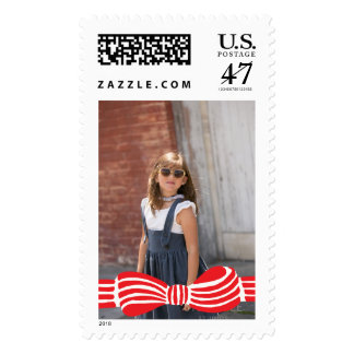 Photo Holiday Large Stamp: Preppy Bow Tie Photo Postage
