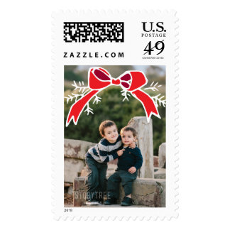 Photo Holiday Large Stamp: Rustic Bow Photo Stamp