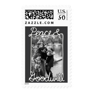 Photo Holiday Medium Postage: Chalkboard Peace Postage