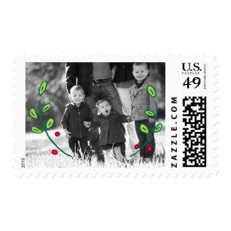 Photo Holiday Medium Postage: Festive Foliage Postage