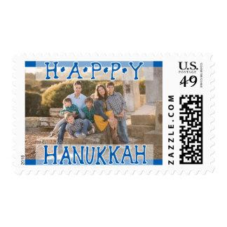 Photo Holiday Medium Postage: Happy Hanukkah Postage