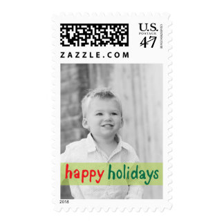 Photo Holiday Medium Postage: Happy Holidays Postage