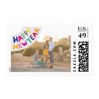 Photo Holiday Medium Postage: Happy New Year Stamp