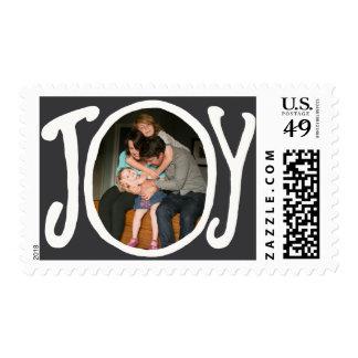 Photo Holiday Medium Postage: JOY Chalkboard Photo Postage
