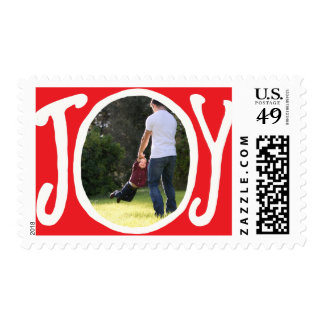 Photo Holiday Medium Postage: Joy Frame Photo Postage