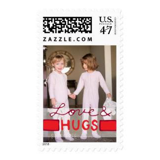 Photo Holiday Medium Postage: Love & HUGS Photo Postage
