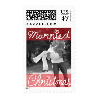 Photo Holiday Medium Postage: Married Christmas Postage