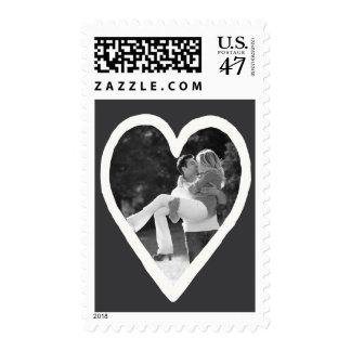 Photo Holiday Medium Stamp: Chalkboard Heart Frame Postage