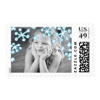 Photo Holiday Medium Stamp: Falling Snowflakes Postage