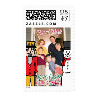 Photo Holiday Medium Stamp: Nutcracker & Snowman Postage