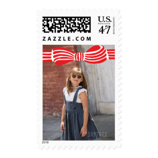Photo Holiday Medium Stamp: Preppy Bow Photo Postage