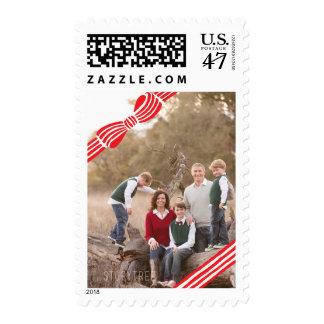 Photo Holiday Medium Stamp: Ribbon Bow Photo Postage