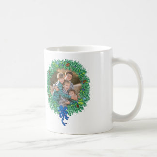 Photo Holiday Mug: Happy Hanukkah Wreath Coffee Mug