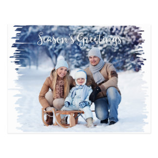 Photo Holiday Postcard Marker Frame Template