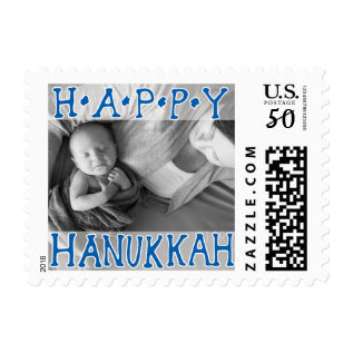 Photo Holiday Small Postage: Happy Hanukkah Postage at Zazzle