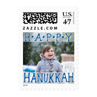 Photo Holiday Small Postage: Happy Hanukkah Postage