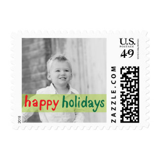 Photo Holiday Small Postage: Happy Holidays Postage