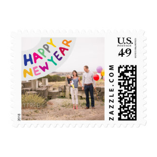 Photo Holiday Small Postage: Happy New Year Postage