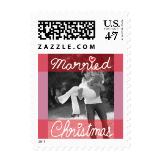Photo Holiday Small Postage: Married Christmas Postage