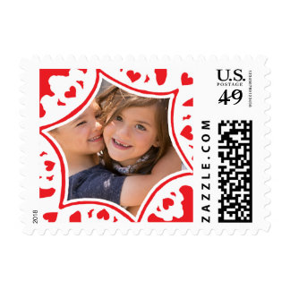 Photo Holiday Small Stamp: Hand-Drawn Snowflake Postage Stamp