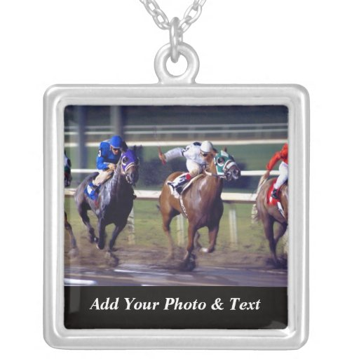 Photo Horse Racing Sports Necklaces