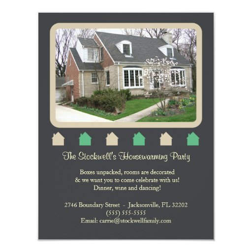 Photo Housewarming Invitation - Dark