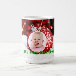 "Photo ""I Love You Grandma"" Custom Christmas Mug"
