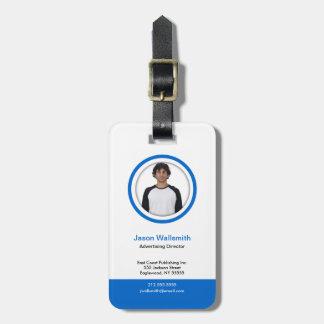 Photo ID  Card Blue Belt Luggage Tag