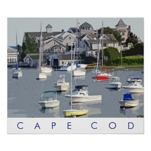 Photo Illustration Cape Cod Harbor Poster