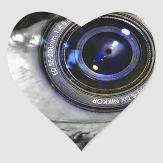 Photo Implant Heart Sticker