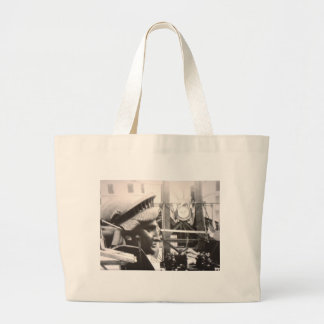 Photo in Paris the Making of Lady Liberty Statue Large Tote Bag