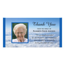 Photo in the Clouds Sympathy Thank You Photo Card
