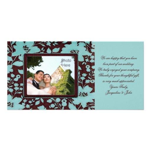 Photo Insert Cards ~ Thank You Wedding Flowers Custom Photo Card