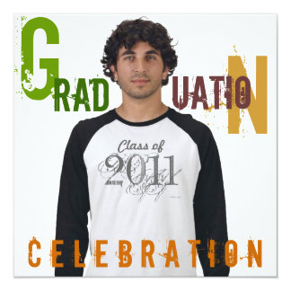 Photo Insert Graduation 2011 Party Invitation 8