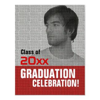 "Photo Insert Graduation Party Invitation 3 4.25"" X 5.5"" Invitation Card"