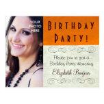 PHOTO INSERT ~ Postcard / Invitation Birthday
