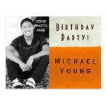 PHOTO INSERT ~ Postcard / Invitation Birthday Teen