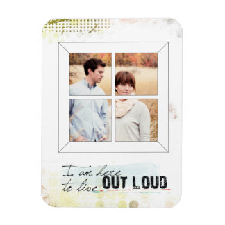 photo instagram framed inspirational quote rectangular photo magnet