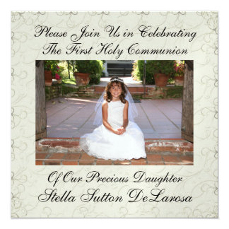 Photo Invitation - First Holy Communion