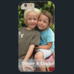 "Photo iPhone 6 Plus case<br><div class=""desc"">Add your favorite photo to this iPhone 6 Plus case. Change the names or delete them and the strip completely by clicking the x. If you&#39;d like the grey strip (with names) in a different color,  just send me a message by clicking &quot;ask this designer&quot; below.</div>"