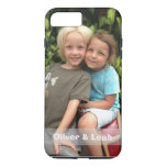 Photo iPhone 8 Plus/7 Plus case<br><div class='desc'>Add your favorite photo to this iPhone 8 Plus/7 Plus case. Change the names or delete them and the strip completely by clicking the x. If you need help with the design,  just send me a message by clicking &quot;ask this designer&quot; below.</div>
