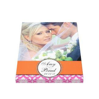 Photo Keepsake for Newly Weds Canvas Canvas Print