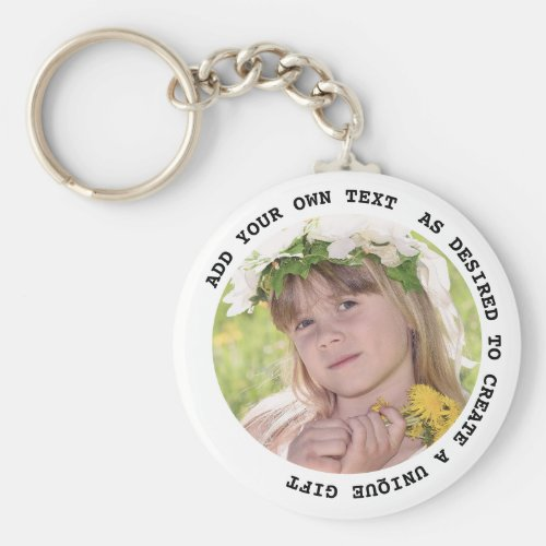 PHOTO KEYCHAIN With Text Gifts Under $5