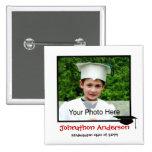 Photo Kindergarten Graduation Announcement 2 Inch Square Button